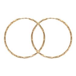 Золотые серьги конго без камней