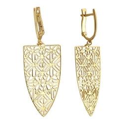 Золотые серьги Ажур без камней