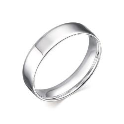 Обручальное кольцо из серебра с без камней