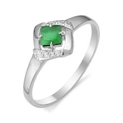 Серебряное кольцо c агатом