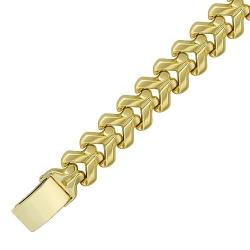 Браслет из желтого золота без камней