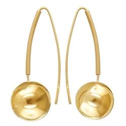 Серьги из желтого золота без камней