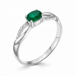 Женское кольцо из серебра с агатом