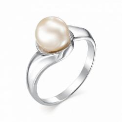 Серебряное кольцо c кремовым жемчугом