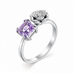 Серебряное кольцо c аметистом