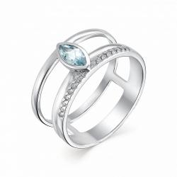 Серебряное кольцо c топазом