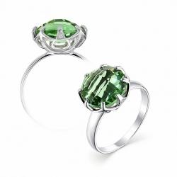 Серебряное кольцо c празиолитом