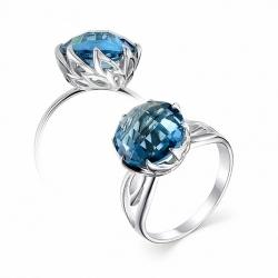 Серебряное кольцо c аквамарином