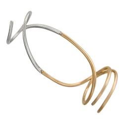 Женское кольцо из комбинированного золота без камней