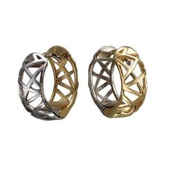 Серьги из комбинированного золота без камней
