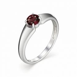 Женское кольцо из серебра с гранатом
