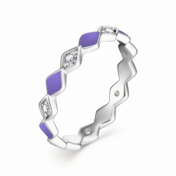 Женское кольцо из серебра с эмалью