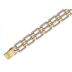 Браслет из комбинированного золота c фианитом