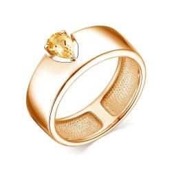 Кольцо серебра с цитрином
