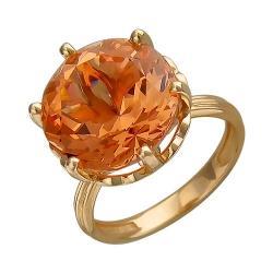 Золотое кольцо c ситаллом