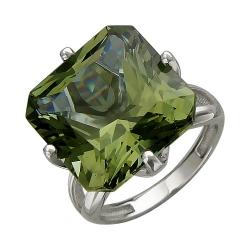 Женское кольцо из белого золота c султанитом