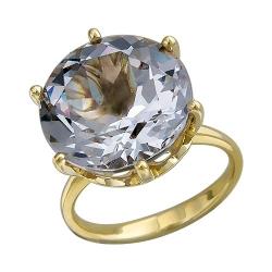 Женское кольцо из желтого золота c ситаллом
