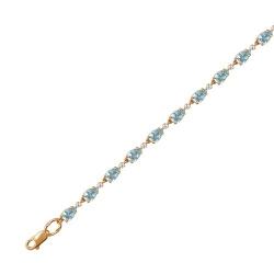 Золотой декоративный браслет c топазом, фианитом