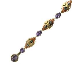Декоративный браслет из комбинированного золота c аметистом, эмалью