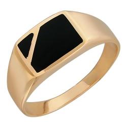 Мужское золотое кольцо c ониксом