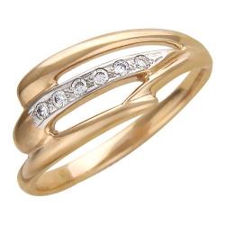 Золотое кольцо c бриллиантом