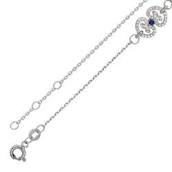 Декоративный браслет из белого золота c сапфиром, бриллиантом
