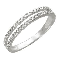 Женское кольцо из белого золота c бриллиантом