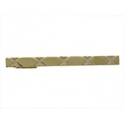Зажим для галстука из желтого золота c бриллиантом