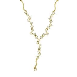 Колье из желтого золота c бриллиантом