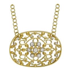 Колье Драгоценное кружево из желтого золота c бриллиантом