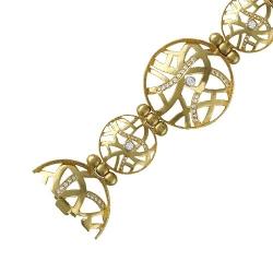 Декоративный браслет Ажур из желтого золота c бриллиантом