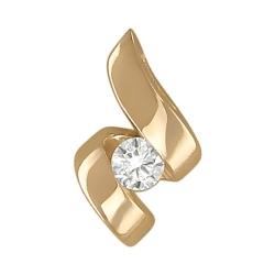 Подвеска из желтого золота c бриллиантом