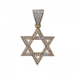 Мусульманская подвеска из желтого золота c бриллиантом