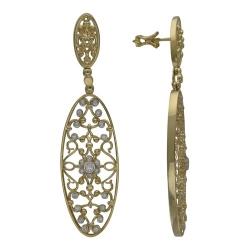 Серьги-гвоздики из желтого золота c бриллиантом