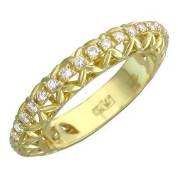Обручальное кольцо из желтого золота c бриллиантом