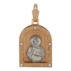 Иконка из комбинированного золота c бриллиантом