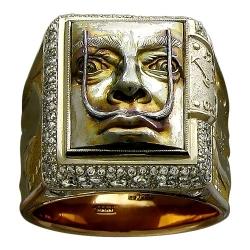 Мужское кольцо Сальвадор Дали из комбинированного золота c бриллиантом