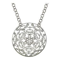 Колье Драгоценное кружево из белого золота c бриллиантом