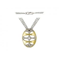 Колье из комбинированного золота c бриллиантом