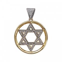 Мусульманская подвеска из комбинированного золота c бриллиантом