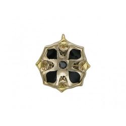 Подвеска из комбинированного золота c эмалью, бриллиантом