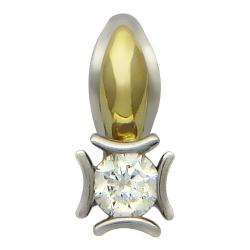Подвеска из комбинированного золота c бриллиантом