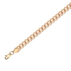 Золотой цепевязальный браслет без камней