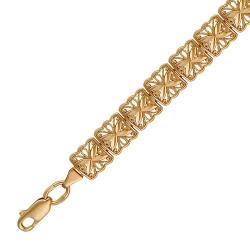 Золотой декоративный браслет без камней