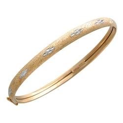 Жесткий золотой браслет без камней