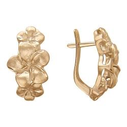 Золотые серьги без камней