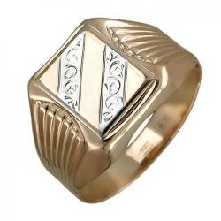 Мужское золотое кольцо без камней