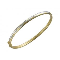 Жесткий Браслет из желтого золота без камней