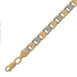 Браслет из комбинированного золота без камней