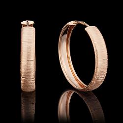 Золотые серьги конго без камней с алмазной гранью
